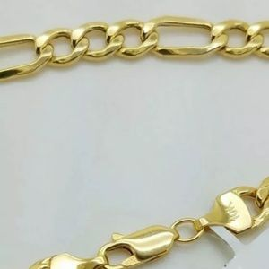 Other - Real Gold Figaro Chain 10K Solid Yellow 20""